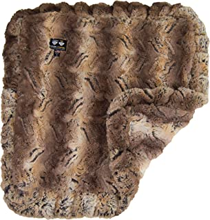 product image for Bessie and Barnie Simba Luxury Ultra Plush Faux Fur Pet, Dog, Cat, Puppy Super Soft Reversible Blanket (Multiple Sizes), BLNKT-SMA-LG