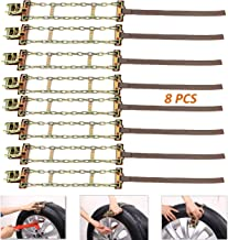 FUN-DRIVING Snow Chains,Tire Chains,Adjustable,Rustproof,Cold-Resistant,Durable,for Car,SUV,Van of Tire Width 205-275mm/8-10.8