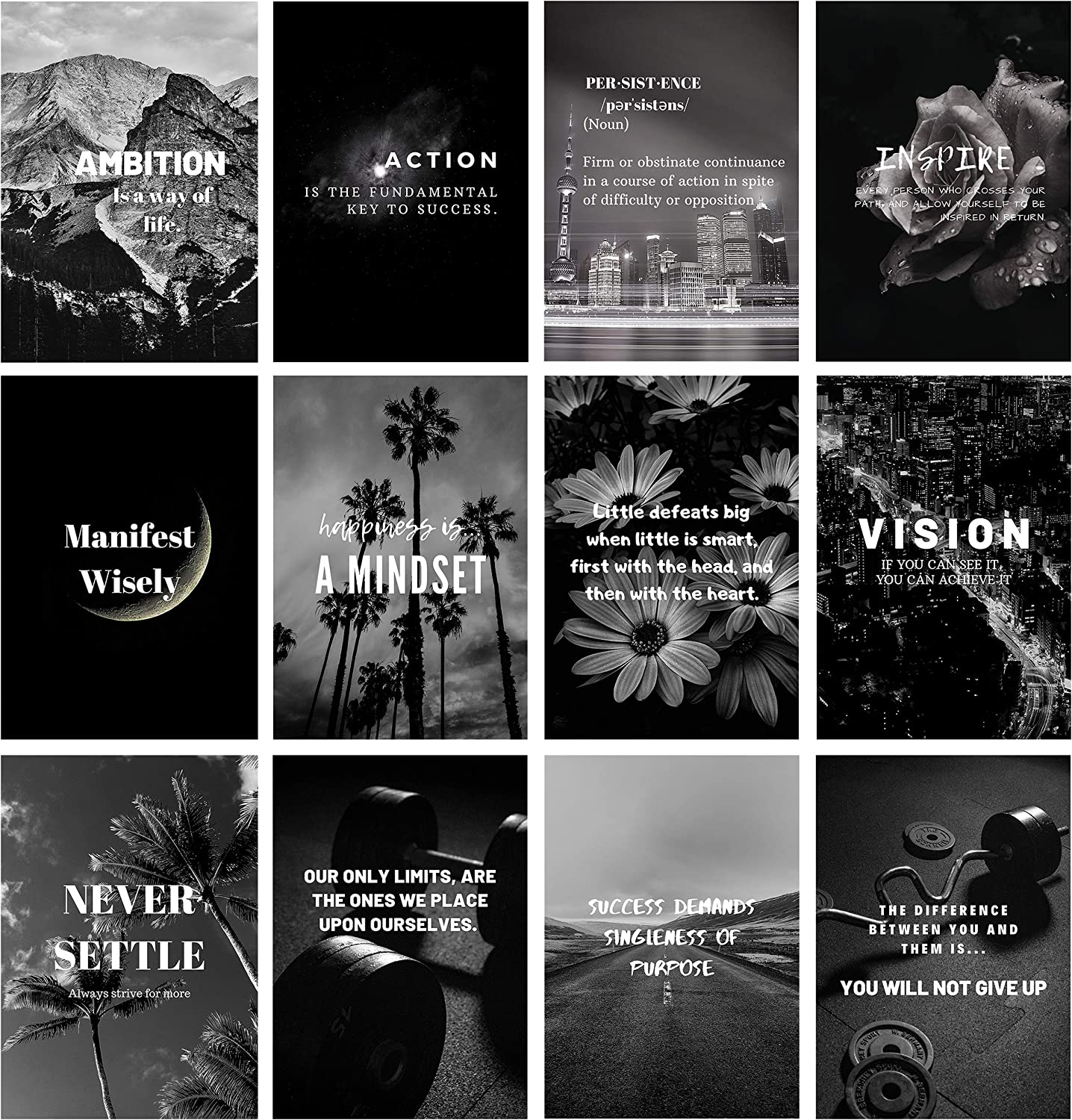 Rapid rise Miss Independent Inspirational Wall Art Set Discount mail order and 12 of Black Whi