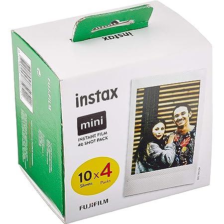 Fujifilm instax 70100146437 mini Film pack de 4 x 10 fotos (40 fotos) [Exclusiva Amazon]