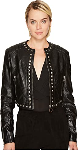 Versace Jeans - Embellished Leather Jacket