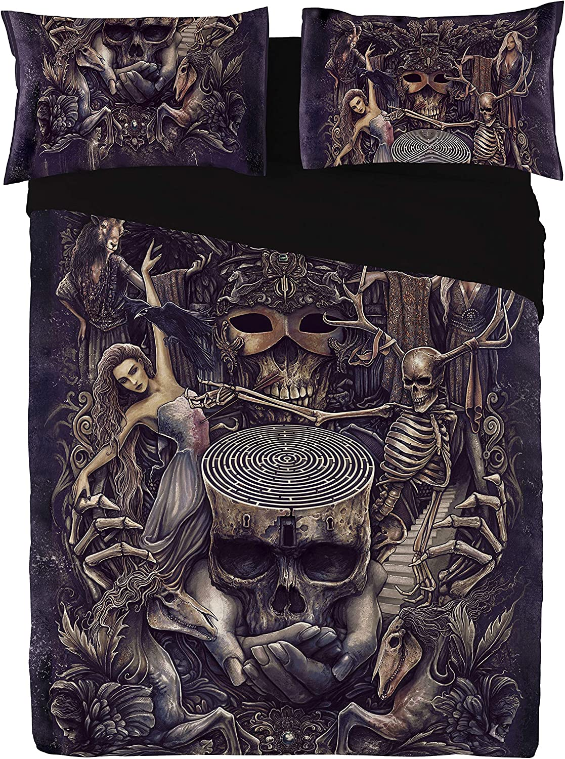 Wild Star Home Labyrinth - Duvet Que Covers Pillowcase Dedication Set for Clearance SALE Limited time