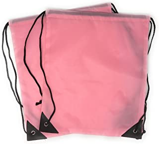 20 x Bulk Drawstring Backpack - Sports Bag Cinch Sack (Pink) 20f8d5747b2b8