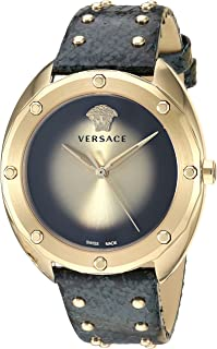 Versace Women's SHADOV Quartz Watch with Stainless-Steel Strap, Black, 19 (Model: VEBM00318)