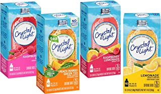 Crystal Light 4 Favorite Flavors Sugar-Free On-The-Go Drink Mix Variety Pack, 10 Count Each (Pack of 4)