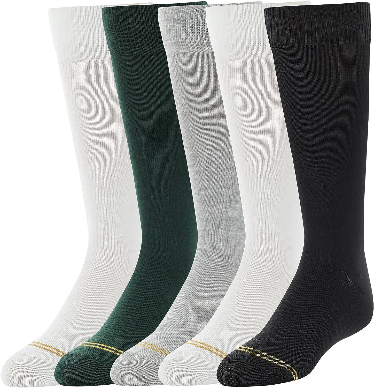 Gold Toe girls Knee High Socks, 5 Pairs