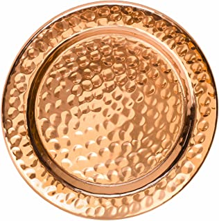 Solid Copper Coasters - Set of 4 Handcrafted Hammered Artisan Coasters for Copper Mugs (4, Hammered Copper)