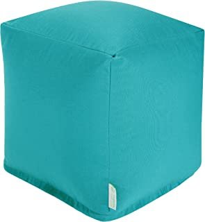 Majestic Home Goods Teal Solid Indoor/Outdoor Bean Bag Ottoman Pouf Cube 17