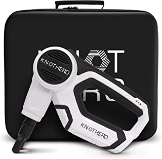 Knot Hero Massage Gun for Athletes - Deep Tissue Chiropractic Massager for Back Pain Relief & Muscle Relaxer - Portable & Cordless, Therapeutic Hand Held Jigsaw Percussion Massage Drill