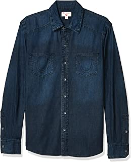 Men's Long Sleeve Denim Western Fitted Shirt