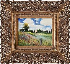 overstockArt Poppy Field in Argenteuil Framed Original Oil Painting by Claude Monet