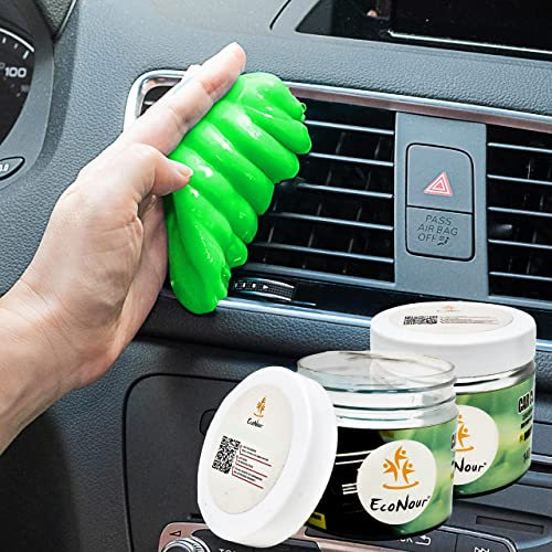 popular EcoNour Dust Cleaning Gel wholesale for Car Dashboards, AC Vents, and Cup Holders | Cleaning Putty wholesale for Car Interior Maintenance | Eco-Friendly Multiuse Keyboard Cleaning Gel | Green (2 Pack) online sale