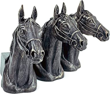Plant Risers for Pots. Decorative Feet for Planters. Use Indoor and Outdoor to Improve Airflow and Drainage. Hand Painted Horse Head Set of 3
