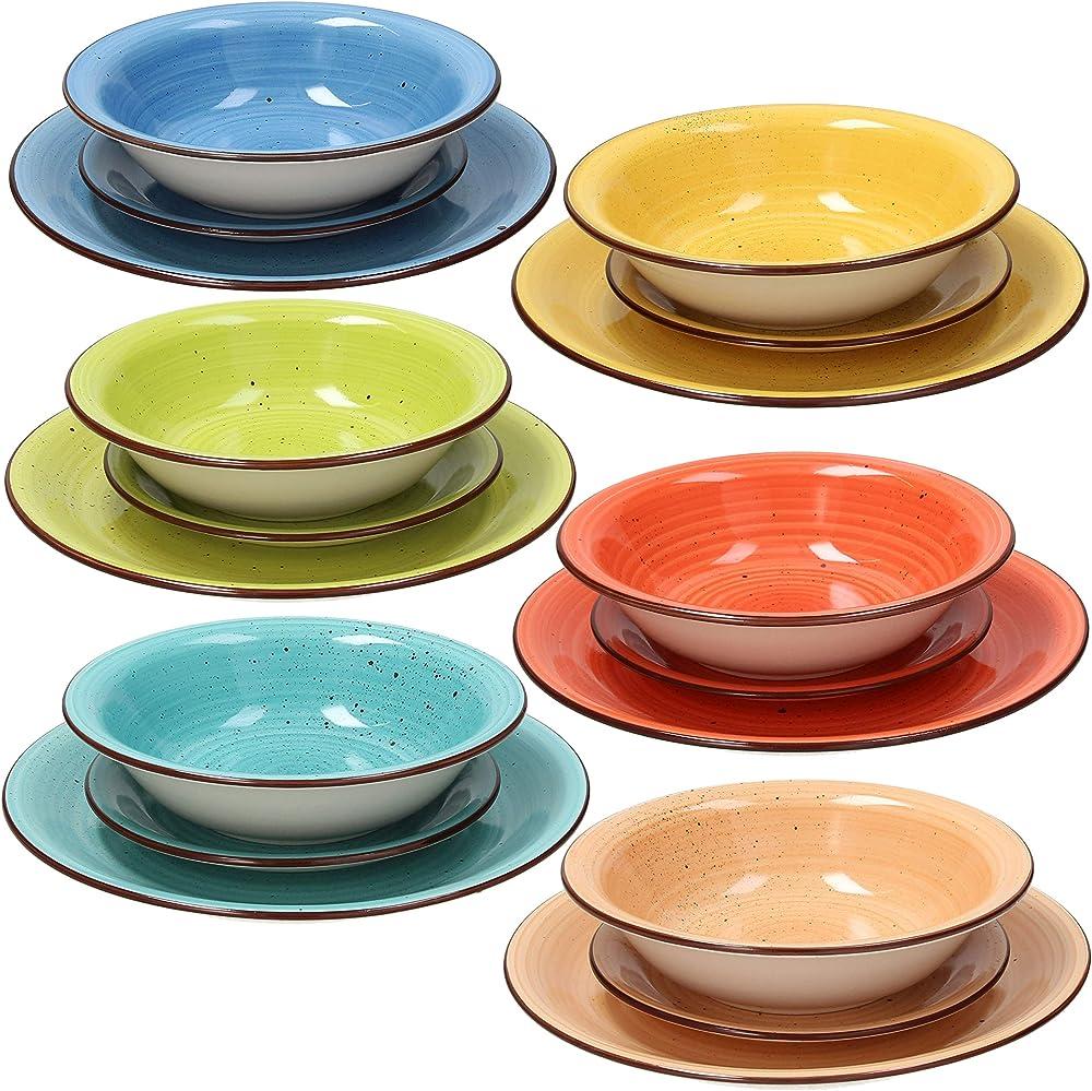 Tognana ,  servizio da tavola 18 pezzi art & pepper, stoneware, multicolore , in ceramica LS17018M025