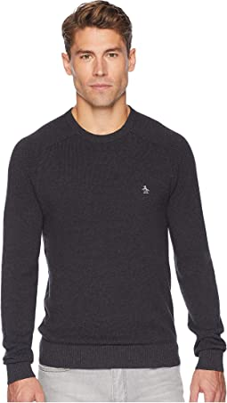 Long Sleeve Honeycomb Pique Sweater