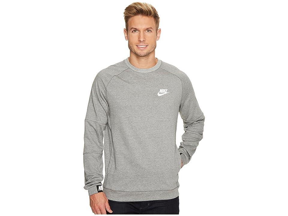 Nike Sportswear Advance 15 Crew (Dark Grey Heather/Black/White) Men