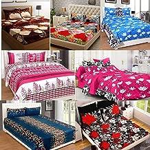 Amrange Cotton 160TC Bedsheet (Double_Multicolour)