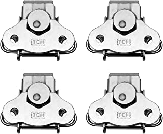 TCH Hardware 4 Pack Steel Small Butterfly Twist Latch & Keeper Zinc - Spring Loaded Toggle Clamp Case Box Chest Closure