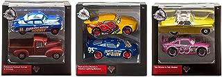 Rust-eze Cruz Ramirez + Fabulous Lightning McQueen / Hudson Hornet + Smokey / Tex Dinoco + Reb Meeker - Die-Cast Twin Pack (Cars Set of 3) - Disney Pixar Movie Merchandise Character Toy Collectible
