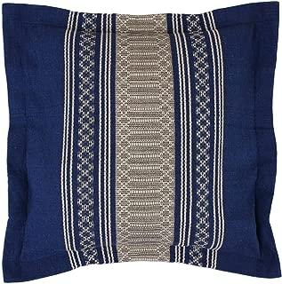 Royal Blue Temptation Zapotec Cotton Cushion Cover Plaid Modern Contemporary One Pillow Handmade