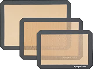 Amazon Basics Lot de 3 tapis de cuisson en silicone