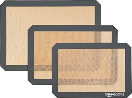 AmazonBasics Silicone Baking Mat, 3-Piece Set