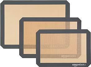 AmazonBasics Silicone Baking Mat Sheet, Set of 3