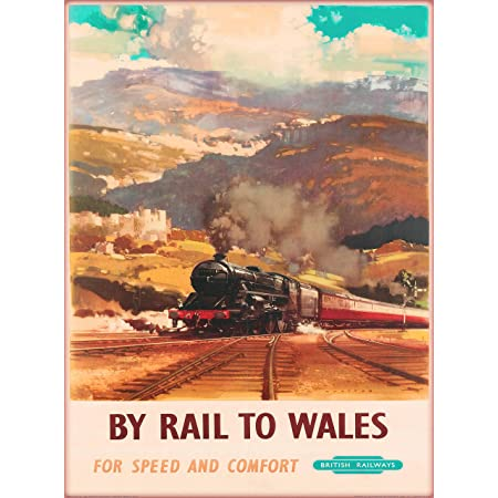 Reproduction Vintage Railway Poster Inverness Home Wall Art.