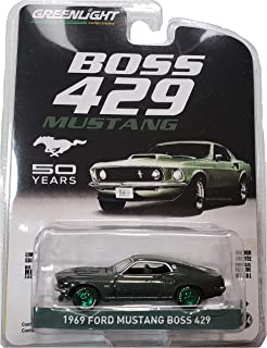 Green Machine 27980-B Anniversary Collection Series 8-1969 Ford Mustang Boss 429-50th Anniversary 1:64 Scale Greenlight Chase