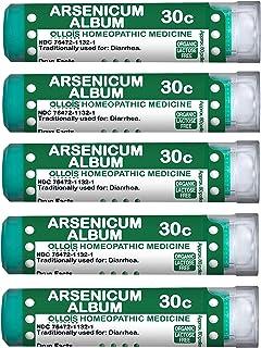 OLLOIS Homeopathic Medicines Ollois Organic, Lactose-Free Arsenicum Album 30c Pellets, 80 Count for Diarrhea-Pack of 5, 400 Count