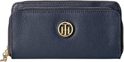 Tommy Hilfiger - Tommy Pebble Double Zip Wallet