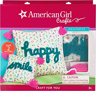 American Girl Crafts Sew and Stuff DIY Pillow Kit, 12'' W x 12'' H and 6.5'' W x 6.5'' H