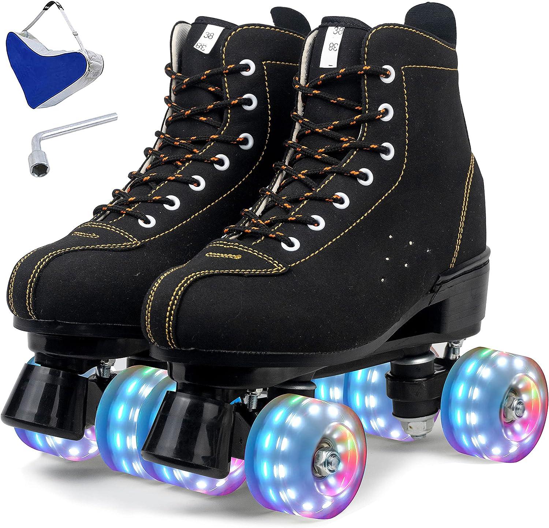 Max 63% OFF Women's Roller Skates Mail order cheap 4 Wheel Shiny Skate fo Speed