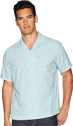 Short Sleeve Daisy Print Cabana Shirt