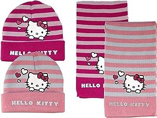 Pink oder Gr/ün Hello Kitty oder Schl/ümpfe M/ütze mit Ohrenschutz und B/ändchen Baby M/ädchen Jungen Gr/ö/ße 62-92