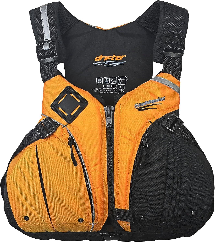 Stohlquist Drifter Personal Floatation Device, Mango Black, Small Medium