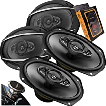 $144 » 4X Pioneer TS-A6977S A-Series 6″ x 9″ 4-Way 650 Watts Car Audio Speaker (100W RMS) 2 Pairs with Gravity Magnet Phone Holde...