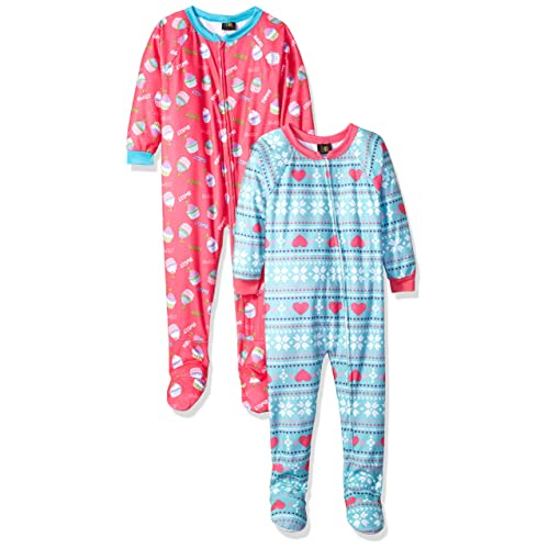 38bb7dccdb Just Love Girls Footed Pajamas Flannel Blanket Sleepers (Pack of 2)