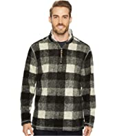 True Grit - Melange Buffalo Plaid 1/4 Zip Pullover