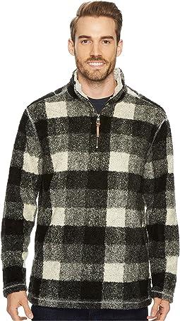 Melange Buffalo Plaid 1/4 Zip Pullover