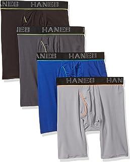 Hanes mens Comfort Flex Fit Ultra Lightweight Mesh Long Leg Boxer Brief 4-Pack Boxer Briefs