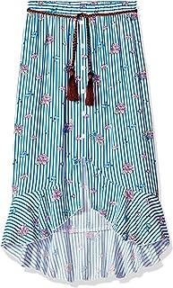Girls' Big High Low Woven Maxi Skirt