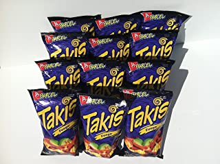 Takis Fuego Chips 12 Large Bags (9.9 Oz. Each Big Bag)