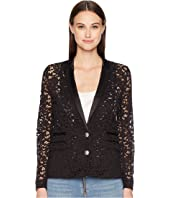 The Kooples - Lace and Satin Jacket