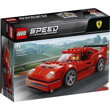LEGO 75890 SpeedChampions FerrariF40Competizione, Set de Construction, Véhicules Jouets pour Enfants, modèle de Pack d'extension Forza Horizon 4
