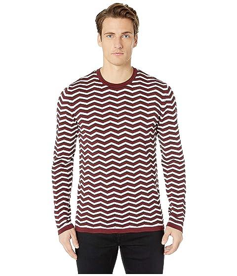Emporio Armani Textured Chevron Sweater