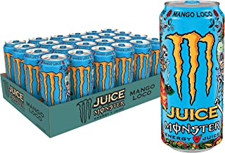 Juice Monster Mango Loco, Energy Drink, 16 Ounce (Pack of 24)