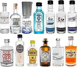 Gin Mini Set Probierset 13er - Saffron  Bombay  Edinburgh  Gin Mare  Gordons  Monkey 47  Friedrichs  Siegfried  The Botanist  Duke  Luv & Lee - NEU