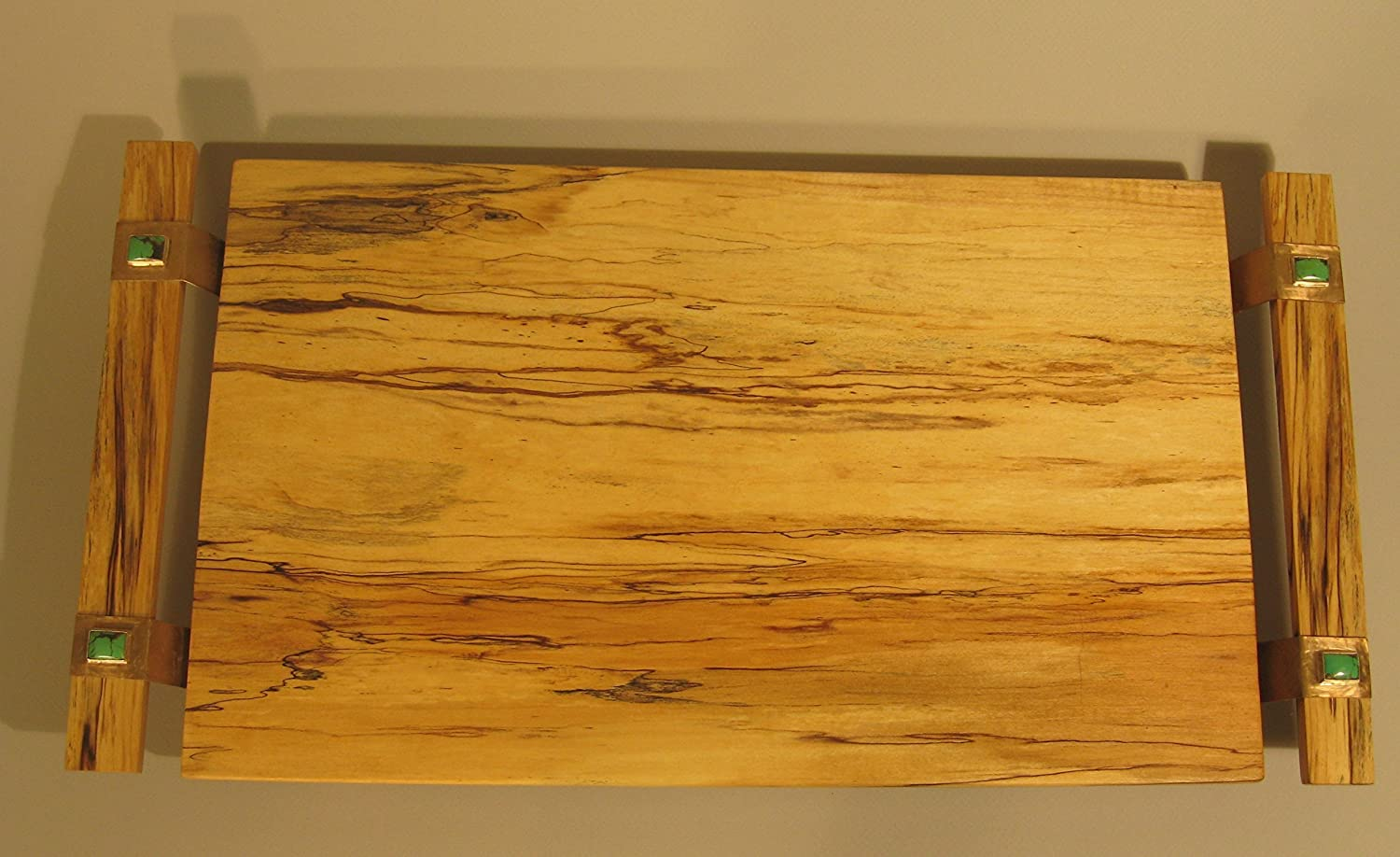 Spalted maple tray turquoise Omaha Mall Max 88% OFF gemstones with