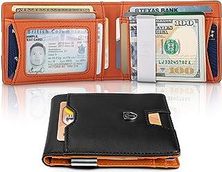 850d659bca24 TRAVANDO Slim Wallet with Money Clip AUSTIN RFID Blocking Card Mini Bifold  Men